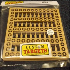 Fairground Bottle Shoot  6PACK REACTIVE TARGET INSERTS for 17cm Pellet Catcher