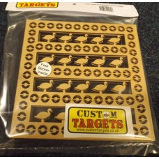 6 pack Fairground Duck Shoot   REACTIVE TARGET INSERTS for 17cm Pellet Catcher
