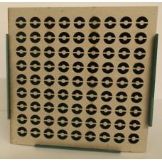 17cm Steel PELLET CATCHER  WITH 10 Assorted REACTIVE TARGETS