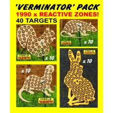 VERMINATOR PACK  (40 Reactive Targets - 1990 shoot away zones)